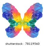 Abstract painting butterfly