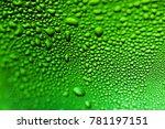 abstract macro view of water... | Shutterstock . vector #781197151