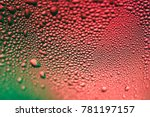 abstract macro of green and red ... | Shutterstock . vector #781197157