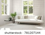 idea of white room with sofa... | Shutterstock . vector #781207144