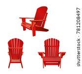garden outdoor wooden chair in... | Shutterstock .eps vector #781208497