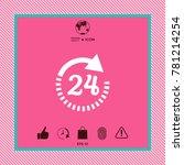 open around the clock symbol... | Shutterstock .eps vector #781214254