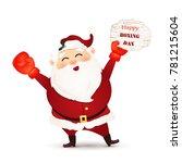 happy boxing day. cartoon cute  ... | Shutterstock .eps vector #781215604