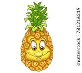 cartoon pineapple character.... | Shutterstock .eps vector #781216219
