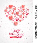 happy saint valentine's day... | Shutterstock .eps vector #781217101