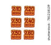 discount indirim  10   20   30  ...   Shutterstock .eps vector #781218139