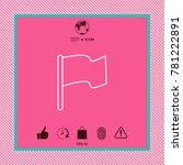 flag linear icon | Shutterstock .eps vector #781222891