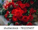 Stock photo red roses in a vase 781225657