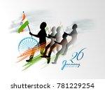 vector illustration of republic ... | Shutterstock .eps vector #781229254