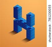 3d isometric letter x of the... | Shutterstock .eps vector #781230055