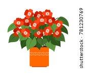 impatiens house plant in flower ... | Shutterstock .eps vector #781230769