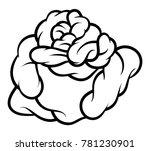 flower rose  black and white.... | Shutterstock .eps vector #781230901