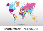 color world map vector | Shutterstock .eps vector #781232011
