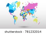 color world map vector | Shutterstock .eps vector #781232014