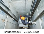 lift machinist repairing... | Shutterstock . vector #781236235