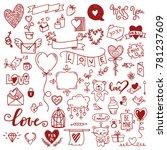 set of decorative love elements ... | Shutterstock .eps vector #781237609