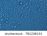 texture of water drops on a...   Shutterstock . vector #781238131