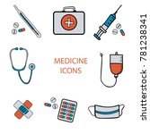 medical icons  first aid kit ... | Shutterstock .eps vector #781238341