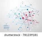 futuristic abstract technology... | Shutterstock . vector #781239181