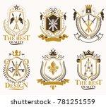 set of retro vintage insignias... | Shutterstock . vector #781251559