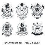 heraldic signs  elements ... | Shutterstock . vector #781251664