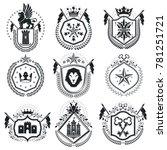 retro vintage insignias. design ... | Shutterstock . vector #781251721