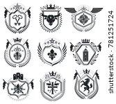 luxury heraldic emblem... | Shutterstock . vector #781251724