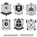 old style heraldry  heraldic... | Shutterstock . vector #781252429