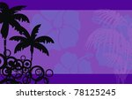 tropical hawaii background in... | Shutterstock .eps vector #78125245