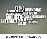 on line marketing related words ... | Shutterstock . vector #78125770
