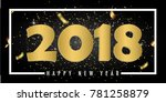 creative design of the new year'... | Shutterstock .eps vector #781258879