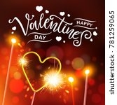 happy valentines day typography ... | Shutterstock .eps vector #781259065