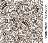cacao beans seamless pattern | Shutterstock .eps vector #781259944