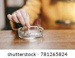 focus on caucasian young woman... | Shutterstock . vector #781265824