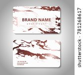 fashion business card set with... | Shutterstock .eps vector #781268617
