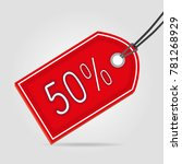 sale red tag fifty | Shutterstock .eps vector #781268929