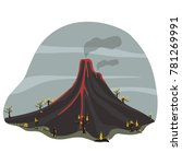picture of an active volcano | Shutterstock .eps vector #781269991
