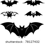 cartoon style bats   vector... | Shutterstock .eps vector #78127432