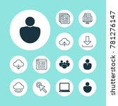 internet icons set with user ... | Shutterstock .eps vector #781276147