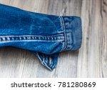 jeans sleeve jacket  blue color ... | Shutterstock . vector #781280869