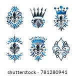royal symbols lily flowers ... | Shutterstock . vector #781280941