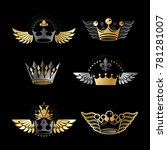 majestic crowns and ancient... | Shutterstock . vector #781281007