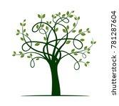 green tree. vector illustration. | Shutterstock .eps vector #781287604