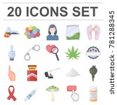 drug addiction and attributes...   Shutterstock .eps vector #781288345