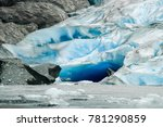 davidson glacier near glacier... | Shutterstock . vector #781290859