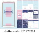 design of mobile app  ui  ux ... | Shutterstock .eps vector #781290994