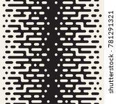 vector seamless irregular lines.... | Shutterstock .eps vector #781291321