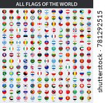 all flags of the world in... | Shutterstock .eps vector #781292515