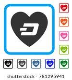 lovely dash heart icon. flat... | Shutterstock .eps vector #781295941