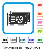 gpu video cards icon. flat grey ...